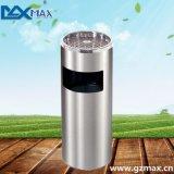 Dustbin en métal Matériaux en acier inoxydable Poubelle ronde en poudre