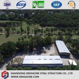 Armazém estrutural de aço pré-fabricado de Logtistics do baixo custo de grande extensão