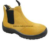 Caricamenti del sistema di cuoio di sicurezza della Metà di-Caviglia della pelle scamosciata con colore differente