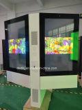 Dedi 55pouces double face à l'extérieur la signalisation numérique LCD Écran LCD interactif de la publicité Smart Media Player