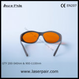 Het Type van sporten van 532nm & 1064nm de Veiligheid Eyewear van de Laser van de Bril van de Veiligheid van de Laser voor 2 Lijn Verwijdering 200540nm & 9001100nm van YAG en van Ktp/van de Tatoegering met Frame 55