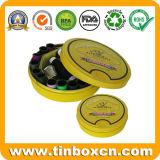 錫ボックス、金属のギフトの缶のあたりの食品包装