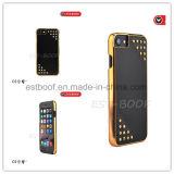 Electroplate+FashionのスタッドのデザインまたはiPhoneのケースが付いている革電話箱