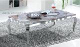 스테인리스 사각 간단한 백색 은빛 가정 가구 소파 테이블 (CT8113L)