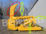 8e5346 무거운 기계는 지상 관여시키는 공구 굴착기 로더 정강이를 분해한다