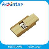 Vara de madeira do USB do giro do flash de bambu da memória do USB