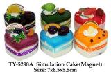 Pastel de simulación divertido juguete de imán