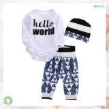 De tamaño personalizado unisex de desgaste de bebé ropa de bebé conjunto