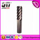 Da flauta reta contínua da pata 4 do carboneto do tungstênio moinho de extremidade lateral