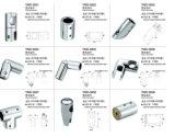 Acessórios de chuveiro sem molas para conector de tubo de aço inoxidável