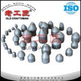 Botón fabuloso del carburo cementado Yk05 Yg6 del tungsteno