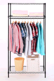 Amjmw011bファブリックワードローブの布の衣服ラック棚の立場
