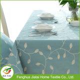 Tablecloth bordado do retângulo de pano de tabela do jantar folha impermeável