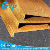 Soffitto falso perforato di alluminio della striscia del soffitto U di rivestimento di legno