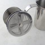 Doppio latte Frother del caffè della maglia dell'acciaio inossidabile 450ml
