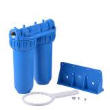 10 '' custodia di filtro dell'acqua delle 2 fasi con la cartuccia di filtro dal rimontaggio