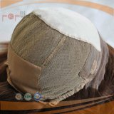 Parrucca medica di Handtied della parte anteriore centrale superiore di seta del merletto per la parrucca paziente delle donne