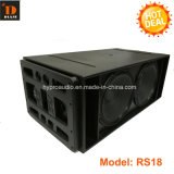 RS18 Dual linha altofalante de 18 polegadas da disposição, caixa sadia, linha altofalante da disposição