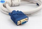 Мужчина VGA к женскому золоту кабеля покрыл