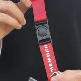Llavero de encargo promocional de transferencia de calor del color del gancho Impreso Lanyard