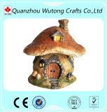 decoração diminuta do jardim do ofício da resina do projeto da casa do cogumelo do estilo da forma para a venda