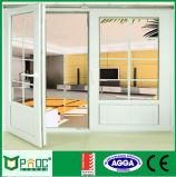 Portello di alluminio popolare della stoffa per tendine con doppio vetro