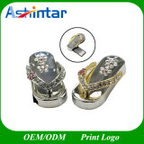 Imperméable Crystal Memory Stick Jewelry Slipper USB Flash Drive