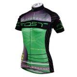 Sport asciutto rapido respirabile di riciclaggio del pullover brevi delle donne modellate semplici verdi & nere del manicotto esterno