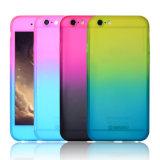 para el iPhone 5 caso móvil del color de la mezcla del SE 6 7 de 360 grados de la carrocería de la cubierta de la PC casos delgados llenos del protector del vidrio Tempered difícilmente para el iPhone 7 más