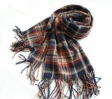 Stola di inverno di sensibilità/sciarpa acriliche tessute modo morbido (HWBA-001)