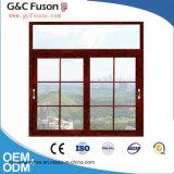 Doppia finestra di scivolamento di vetro di alluminio fatta in Cina