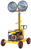 Kleiner beweglicher beweglicher heller Aufsatz angeschalten von Generator