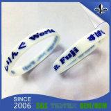 Freies Beispielgebührroter und blauer SilikonWristband (HN-GJ-15716)