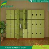 آمنة [رفيد] تعقّب هويس اللون الأخضر [فيربرووف] خزانة لأنّ مدرسة
