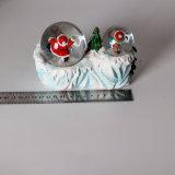 Globo della neve del Babbo Natale di natale di Polyresin con il doppio globo