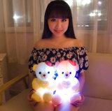 최신 판매 LED 빛난 장난감 곰 견면 벨벳 장난감