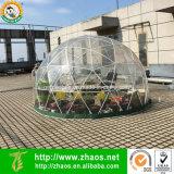 En el exterior de plástico transparente de efecto invernadero multifuncional domo geodésico de la casa