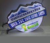 LEDによるプラスチックによって形作られる3Dライトボックス