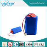18650 12V 8400mAh Lithium-Batterie-Satz für helle Solarbatterie