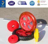 Fabrik dreht Großhandels-PU-Gummifußrolle Laufkatze-Räder
