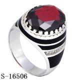 새 모델 925 자연적인 마노를 가진 은 반지 보석