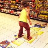 Etiqueta engomada auta-adhesivo del vinilo del suelo con impreso