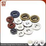 Modificar el botón del broche de presión para requisitos particulares del metal de la manera de dos orificios para el suéter