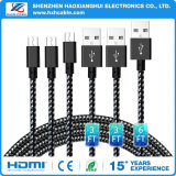 Cable del cargador del USB de los accesorios 2.1A del teléfono