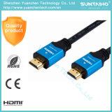 高品質2.0V Am/AmのHDTVのための平らなナイロンHDMIケーブル
