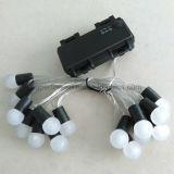 Свет шнура шарика СИД серебряного провода верхнего качества водоустойчивым оборудованный кожухом батареи белый