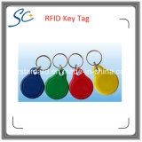 Изготовленный на заказ бирка Hf RFID печатание 13.56MHz логоса ключевая