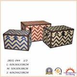Комод хобота хранения деревянной печати ткани Chevron Tufted, коробка хранения для живущий комнаты