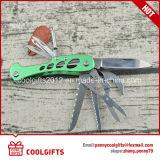 La alta calidad Multifuncional 9 en 1 Camping Cuchillo plegable de acero inoxidable