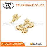 Zink-Legierungs-Licht-Goldbeutel-Befestigungsteil-Drehung-Verschluss für Handtaschen